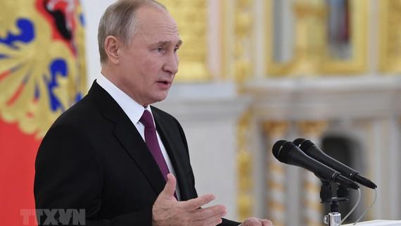 Tổng thống Nga Vladimir Putin. Ảnh: TTXVN