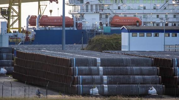 Ống dẫn khí đốt của dự án Dòng chảy phương Bắc 2. Ảnh: TTXVN