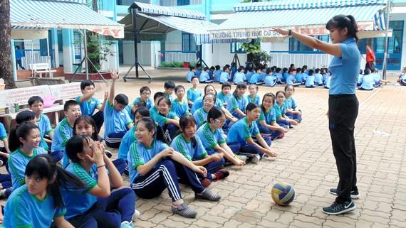 Một giờ lên lớp của giáo viên Trường THCS Bình Tây (quận 6)