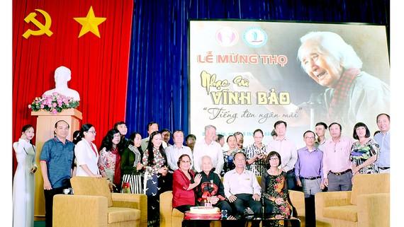 Giao lưu và mừng thọ nhạc sư Nguyễn Vĩnh Bảo tại Trường Đại học Đồng Tháp ngày 19-8-2018