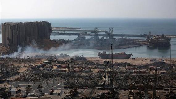 Cảnh đổ nát sau vụ nổ tại cảng Beirut, Liban, ngày 6-8-2020. Ảnh: TTXVN