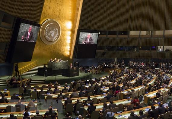 Một phiên họp của Đại hội đồng Liên hiệp quốc. Ảnh: TTXVN