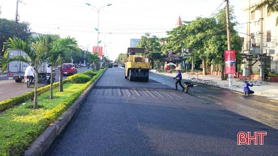 Quốc lộ 1A đoạn qua TP Hà Tĩnh. Nguồn: BHT