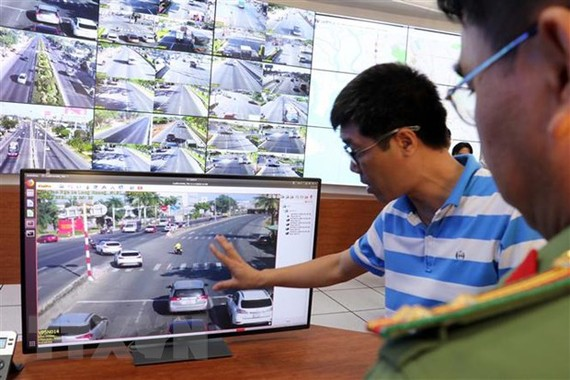 Hệ thống giám sát tại Trung tâm Chỉ huy. Nguồn: TTXVN