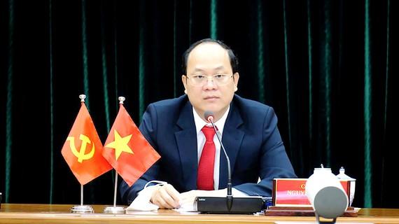 Phó Bí thư Thành ủy TPHCM Nguyễn Hồ Hải dự hội nghị. Ảnh: MINH HIỆP