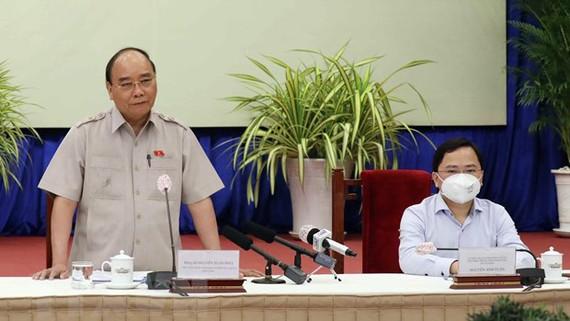 Chủ tịch nước Nguyễn Xuân Phúc phát biểu tại buổi gặp mặt. Ảnh: TTXVN