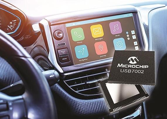 Vi mạch USB 3.1 SmartHub hỗ trợ Type-C™ đầu tiên đạt tiêu chuẩn dành cho ô tô