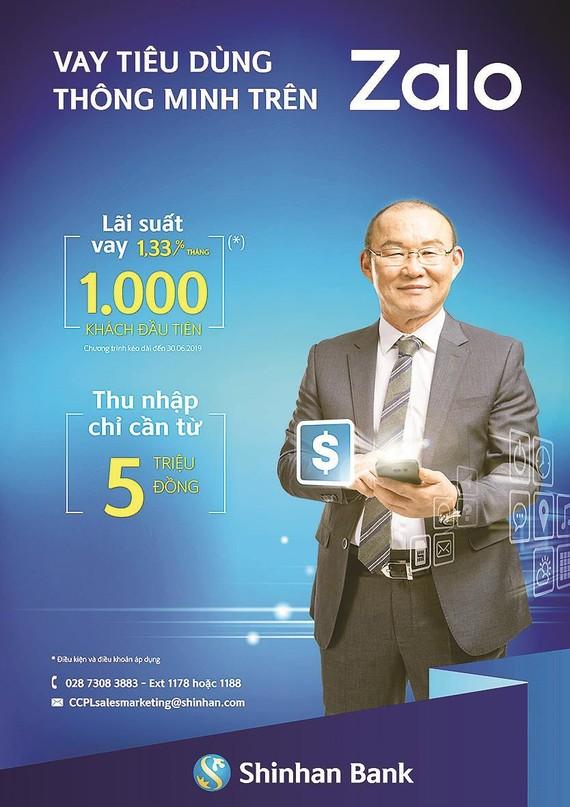 Ngân hàng Shinhan cho vay tiêu dùng thông minh trên Zalo