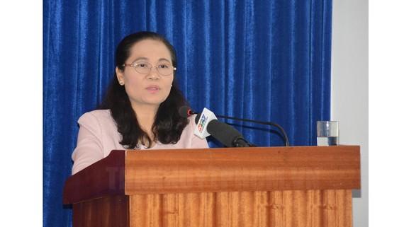Đồng chí Nguyễn Thị Lệ, Phó Bí thư Thành ủy, Chủ tịch HĐND TPHCM phát biểu chỉ đạo tại hội nghị. Ảnh: thanhuytphcm.vn