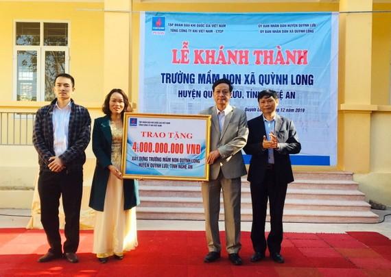 Lễ khánh thành công trình Trường Mầm non xã Quỳnh Long.