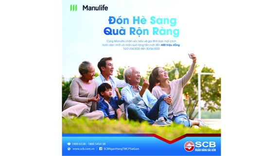 """Chương trình """"Đón hè sang - Quà rộn ràng"""": Nhận quà tiền mặt lên đến 400 triệu của SCB và Manulife"""