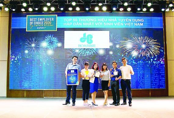 Hòa Bình lọt Tốp 50 Thương hiệu Nhà Tuyển dụng hấp dẫn với sinh viên Việt Nam 2020
