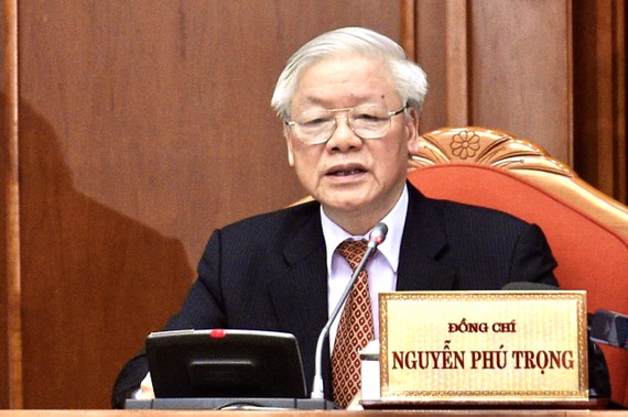 Tổng Bí thư, Chủ tịch nước Nguyễn Phú Trọng phát biểu tại bế mạc Hội nghị lần thứ 12 Ban Chấp hành Trung ương Đảng khóa XII