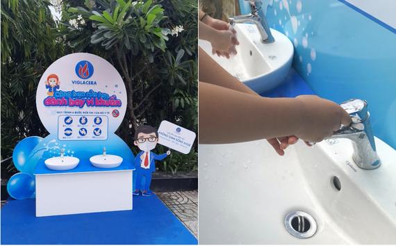 Viglacera lắp đặt 10 trạm rửa tay tại các trường tiểu học