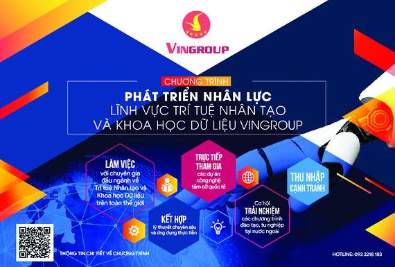 Chương trình Phát triển nhân lực lĩnh vực Trí tuệnhân tạo vàKhoa học dữ liệu Vingroup bắt đầu nhận hồ sơ ứng tuyển từ ngày 21-8-2020