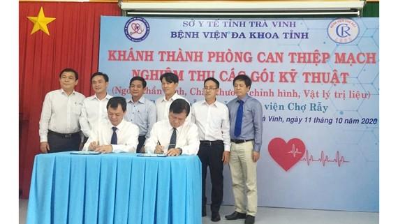 Bệnh viện Chợ Rẫy và Bệnh viện Đa khoa Trà Vinh ký kết biên bản hợp tác chuyển giao