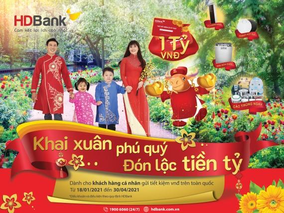 Gửi tiết kiệm ở HDBank nhận lộc tiền tỷ