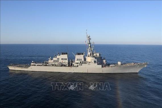 Tàu USS Porter của Hải quân Mỹ. Ảnh: AFP/TTXVN