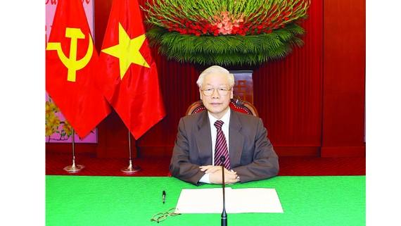 Tổng Bí thư, Chủ tịch nước Nguyễn Phú Trọng điện đàm với Tổng Bí thư, Chủ tịch nước  Trung Quốc Tập Cận Bình. Ảnh: TTXVN