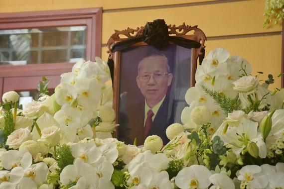 Ban thờ, nơi quàn linh cữu nguyên Phó Thủ tướng Trương Vĩnh Trọng tại gia đình ở  ấp Lương Thuận, xã Lương Quới, huyện Giồng Trôm, tỉnh Bến Tre. Ảnh: VGP
