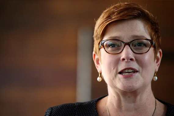 Ngoại trưởng Marise Payne. Ảnh: REUTERS
