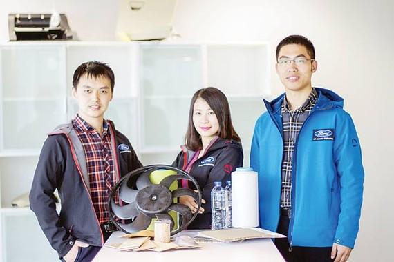 Janet Yin và nhóm nghiên cứu áp dụng vật liệu tre vào sản xuất ô tô của Ford