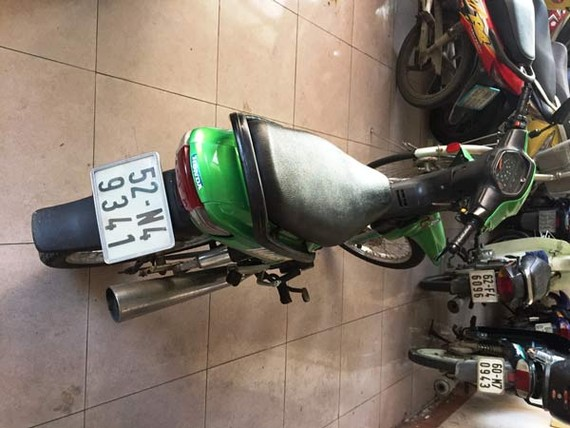 Chiếc xe máy được Khách làm phương tiện đi cướp