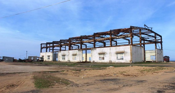Cơ sở đóng tàu Công ty Cổ phần Công nghiệp nông thủy sản Phú Yên trở nên hoang phế