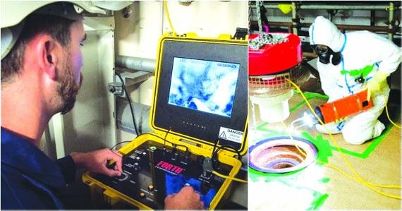 Dùng robot dọn chất thải hạt nhân