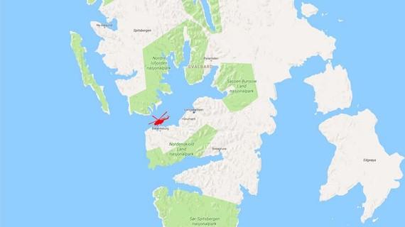 Chiếc trực thăng Nga rơi ngoài khơi đảo Spitsbergen, đảo lớn nhất trong quần đảo Svalbard của Na Uy, ngày 26-10-2017