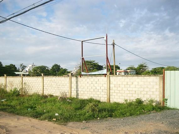 Khu đất giao cho DN xây Trường Trung cấp Phương Nam