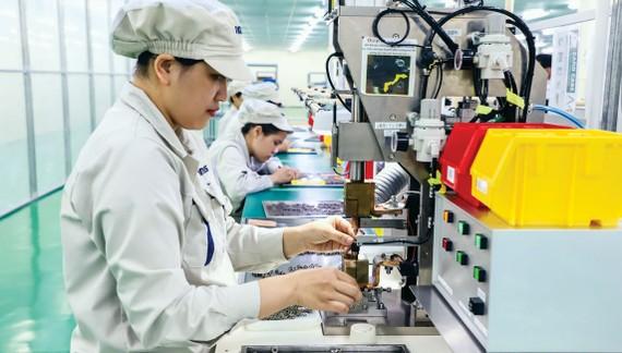 Dây chuyền sản xuất của doanh nghiệp FDI Nhật Bản tại Việt Nam. Ảnh: VIẾT CHUNG