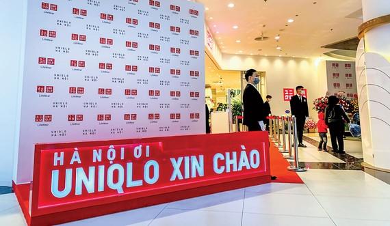 Khi khai trương cửa hàng Uniqlo đầu tiên tại Hà Nội.
