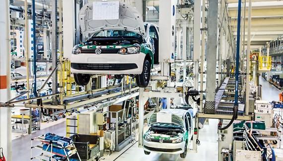 Nhà máy sản xuất-lắp ráp ô tô Volkswagen.