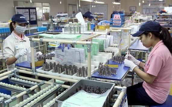 Sản xuất linh kiện cơ khí tại Công ty Misumi Việt Nam-Khu chế xuất Linh Trung, thành phố Thủ Đức, TP Hồ Chí Minh.