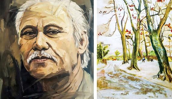 Nhà thơ Quang Dũng qua nét vẽ Trần Thế Vĩnh. Một bức tranh của nhà thơ Quang Dũng.