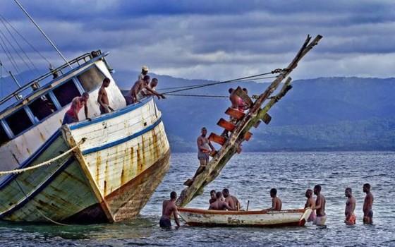 Thuyền chở người di cư Haiti thường xuyên gặp nạn ở La Tortue. Ảnh: Miami Herald