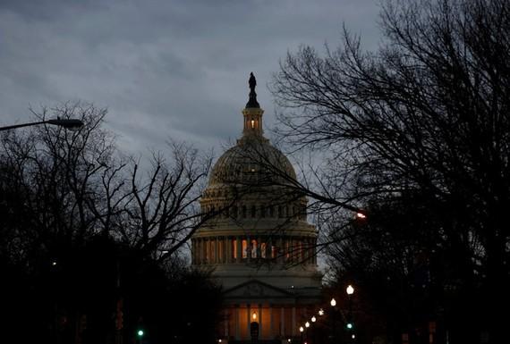 Toà nhà Chính phủ Mỹ đóng cửa trong ngày 20-1. Ảnh: SKY NEWS