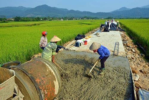 Giải ngân chương trình xây dựng nông thôn mới quá thấp