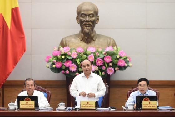 Thủ tướng Nguyễn Xuân Phúc chủ trì phiên họp. Ảnh: VGP