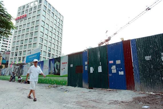 Dự án Thành An Tower. 21 Lê Văn Lương, Hà Nội hiện đang dở dang