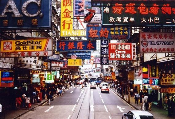 Đường phố Hong Kong. (Nguồn: financialtribune.com)