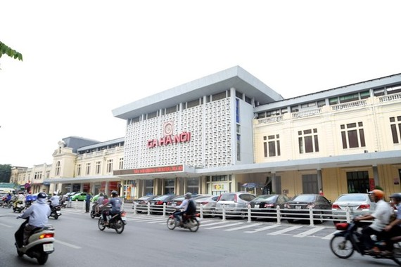 Ga Hà Nội vẫn được giữ nguyên sau khi hoàn thành xây dựng. (Ảnh: Nguyễn Văn Cảnh/TTXVN)