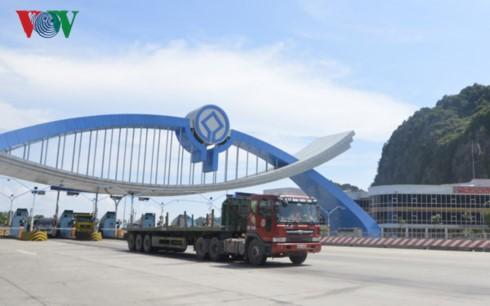 Trạm thu phí Đại Yên do BOT Đại Dương xây dựng và đi vào hoạt động từ tháng 10/2014.