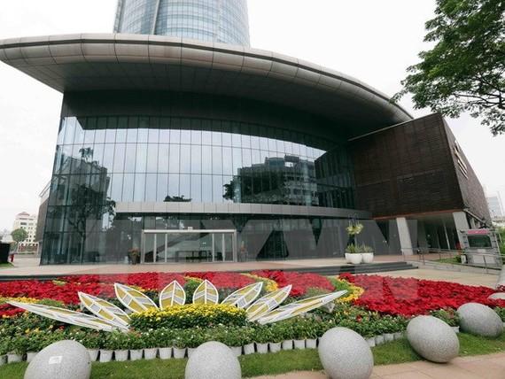 Các thảm hoa tươi được trang trí chào mừng APEC 2017 tại Đà Nẵng. (Ảnh: Trần Lê Lâm/TTXVN)