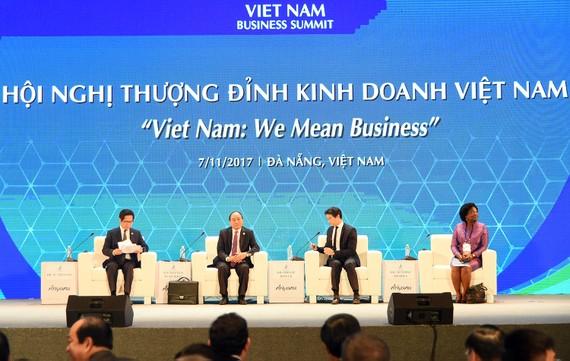 Thủ tướng phát biểu khai mạc Hội nghị Thượng đỉnh Kinh doanh VBS