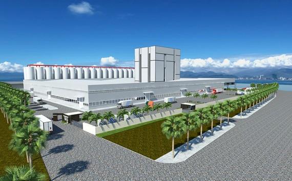 Phối cảnh Nhà máy chế biến thức ăn thuỷ sản Sao Mai.