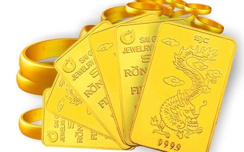 Giá vàng SJC tăng nhẹ khi giá vàng thế giới đi ngang