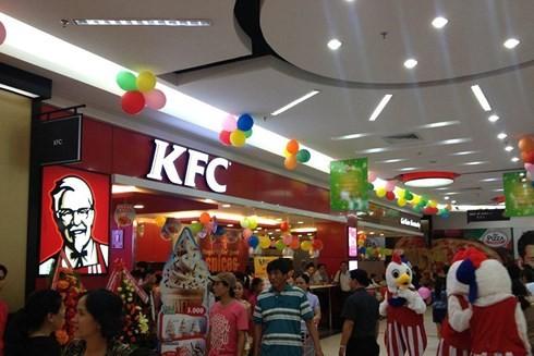 KFC, một trong những thương hiệu lớn trên thế giới đã nhượng quyền thương hiệu tại Việt Nam. (Ảnh minh họa: KT)