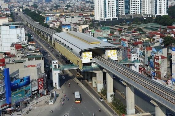 Nhà ga của tuyến đường sắt đô thị Cát Linh-Hà Đông. (Ảnh: Huy Hùng/TTXVN)